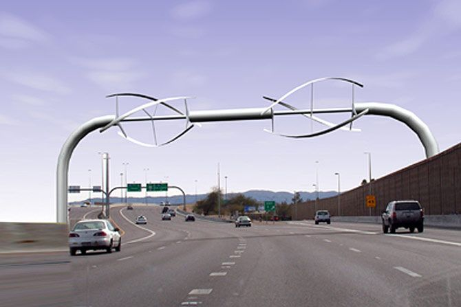 Freeway Wind Turbines