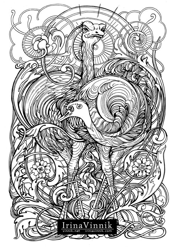 Manic Botanic A Thing In Itself Bird Coloring Pages Coloring Book Art Animal Coloring Pages