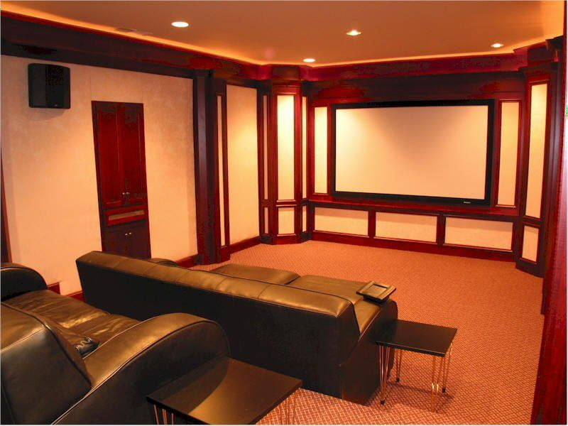 20 Awesome Home Theater Design Ideas 20 Home Theater Design With White Wall Screen Brown