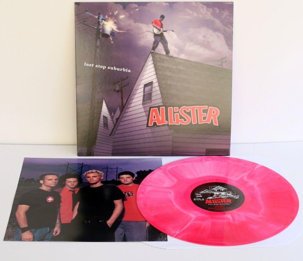 Allister Last Stop Suburbia Lp Record Colored Swirl Vinyl With Lyrics Insert Punkemopunknewwave Color Swirl Records Vinyl