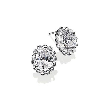 18ct White Gold Diamond Earrings 4 claw 0.20ct tw