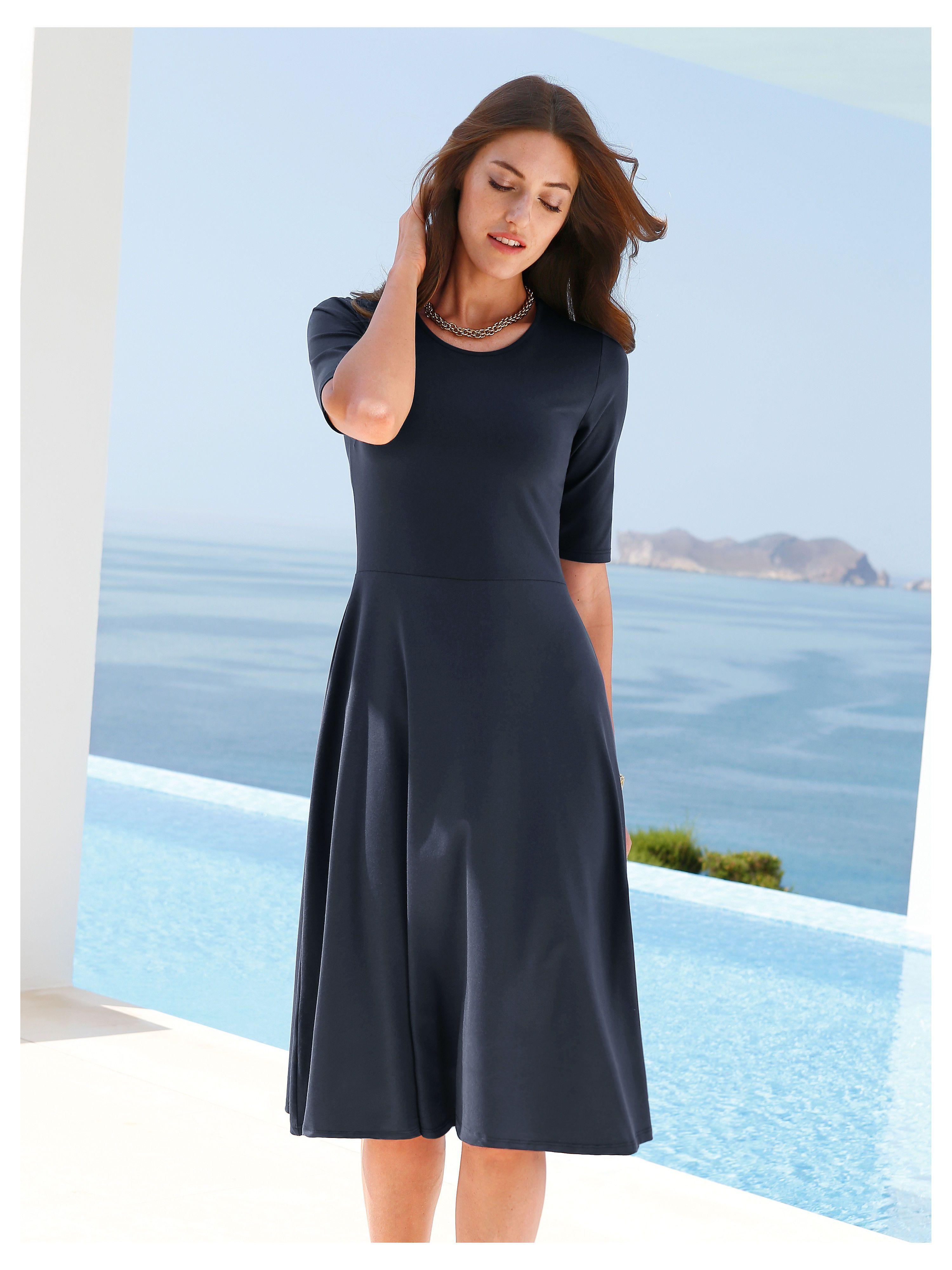 Peter Hahn - Jersey-Kleid zum Schlupfen - Nachtblau