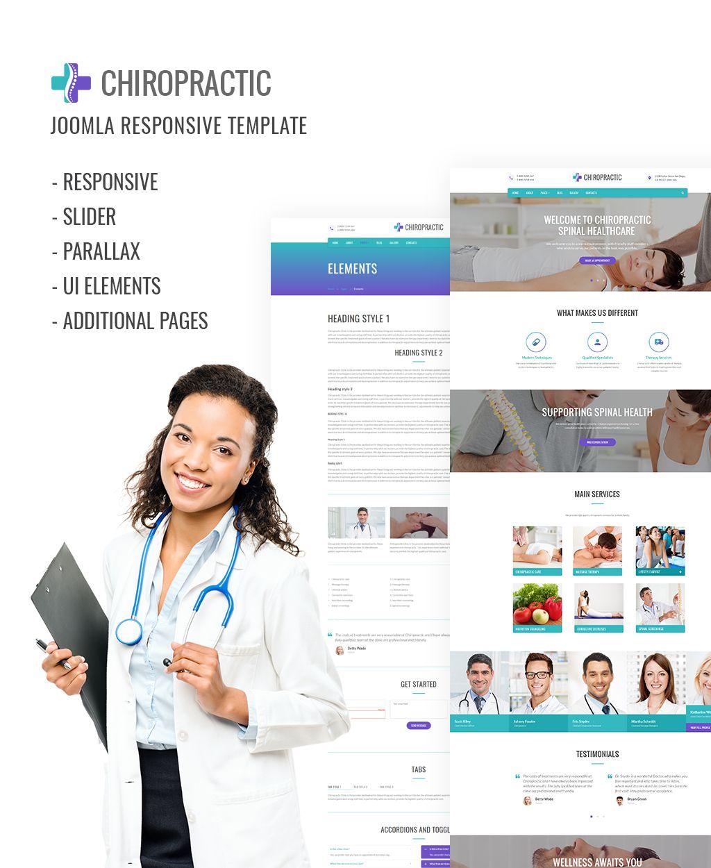 Medical Responsive Joomla Template 64163 Joomla