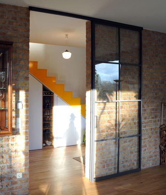 Bildergebnis für stahlglas schiebetür Türen Pinterest - schlafzimmer ohne fenster