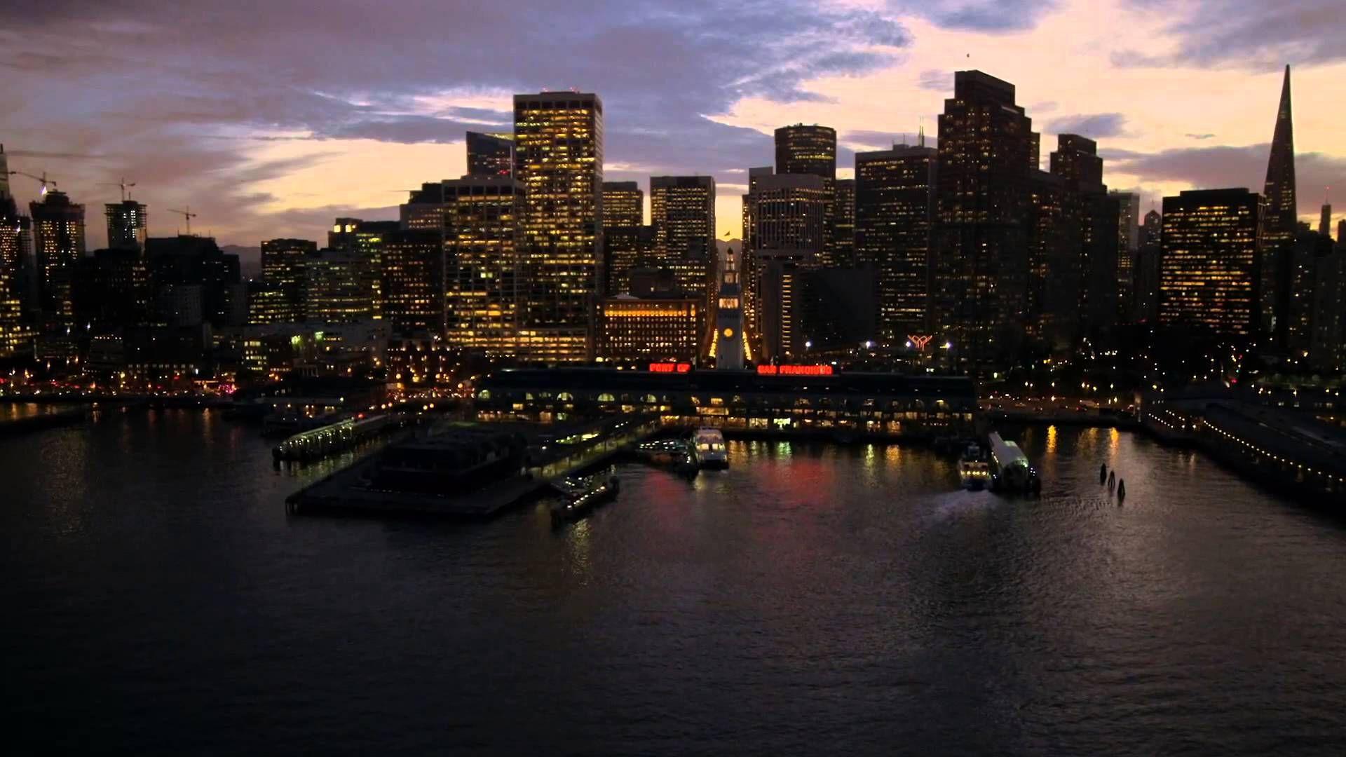 Apple Tv 4 Aerial Screensaver Port Of San Francisco Night Download San Francisco At Night San Francisco Port