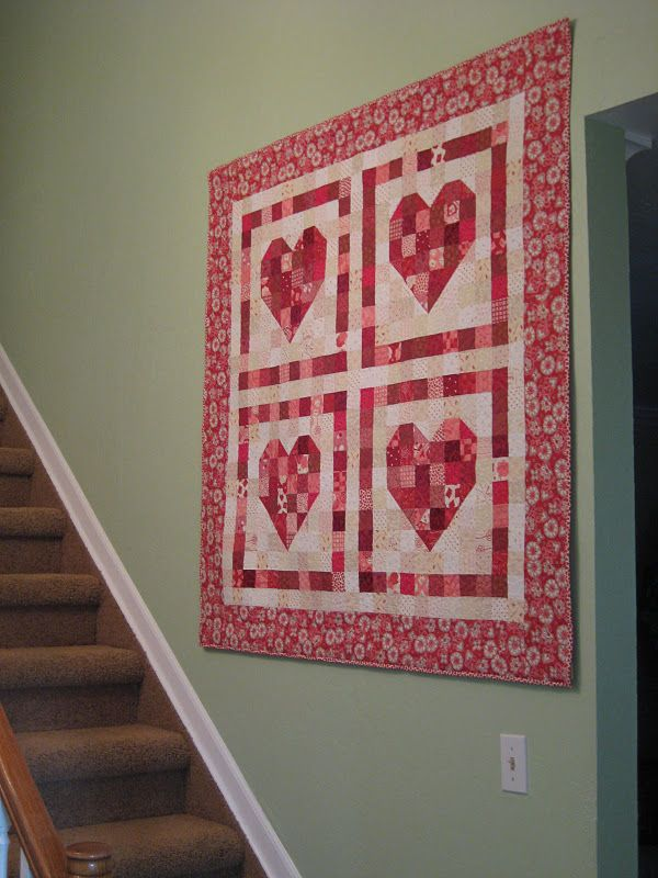 Stuph From Steph Done Heart Quilt Wall Quilts Quilted Wall Hangings