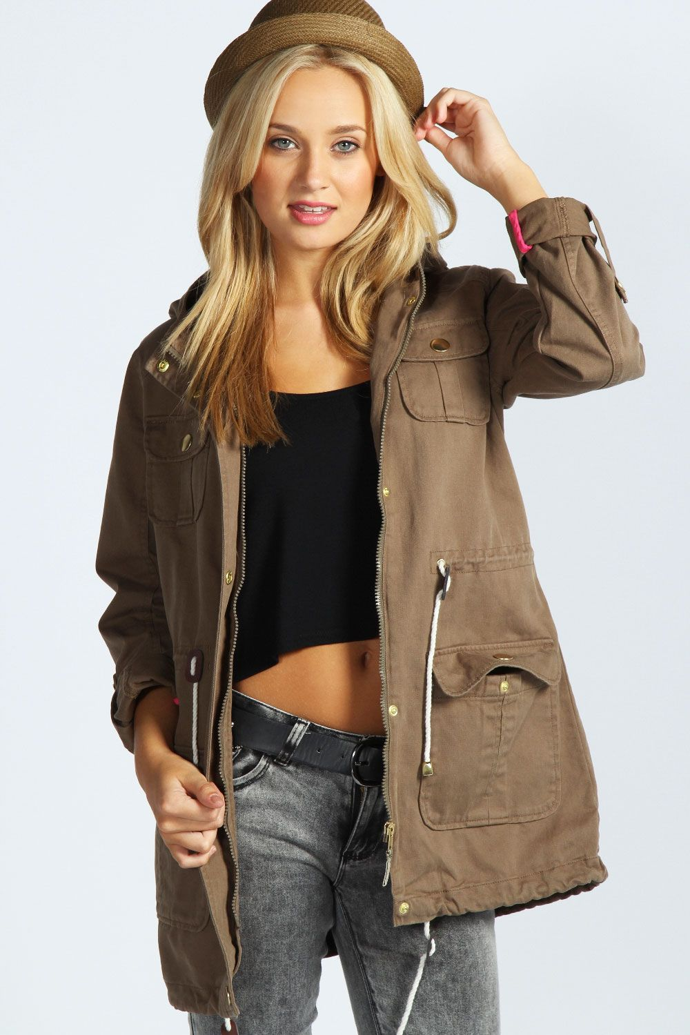khaki-parka-jacket-for-women | Parka Jacket | Pinterest | Parka ...