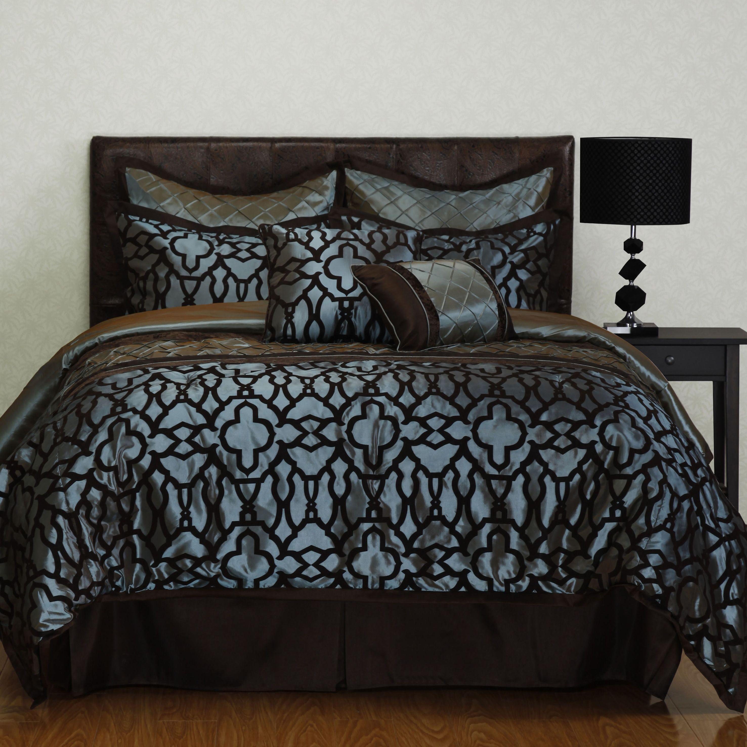 jordan comforter set. modern and beautifully opulent, the jordan comforter set makes a dramatic statement with an ironwork