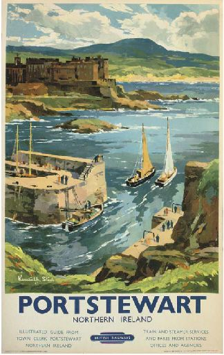 Donegal Railway Ireland 050 Vintage Railway Art Poster