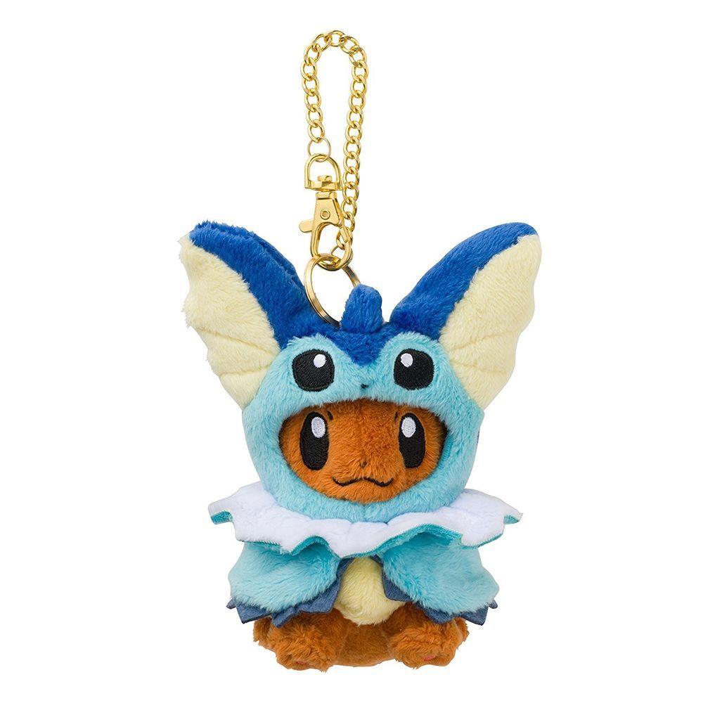 Pokemon Center Original Eevee Poncho Series Glaceon ver Plush Mascot Keychain
