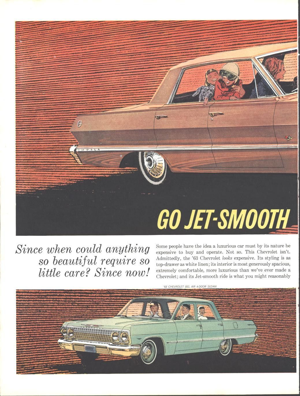63 Chevrolet Impala Bel Air 4 Door (Double Page) LIFE October 5 1962 Unframed Page Size Approx.10.5 by 13.5 Double Framed Price Add: $84.98 Double Framed Size Approx. 26 by 20                                                                                                                                                                                 More