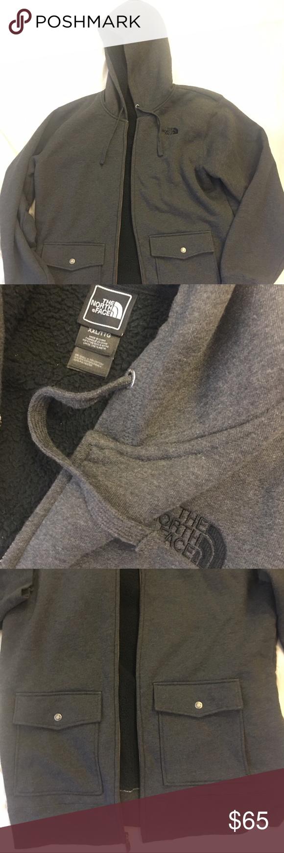 Men's XXL North Face warm cotton sweater. Good condition, XXL ...