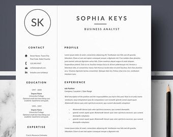 Professional Resume Template  Modern Resume For Word  Cv