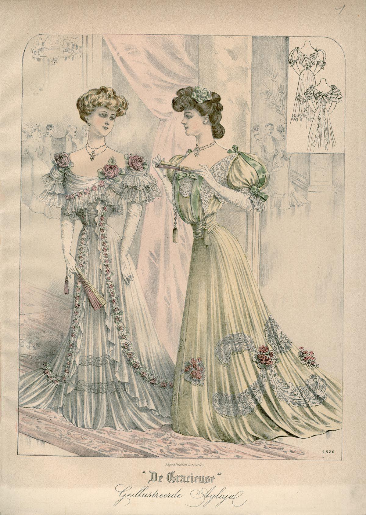 [De Gracieuse] Bal- en soirée-toilet (January 1907)
