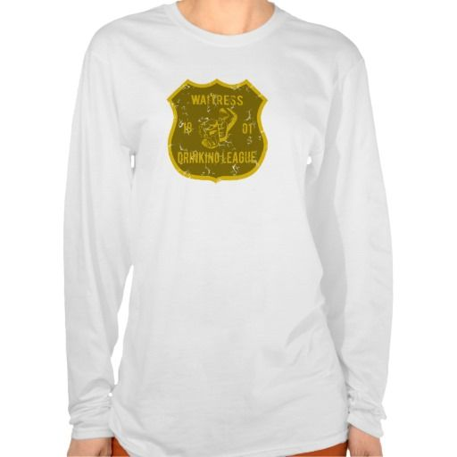 Waitress Drinking League T Shirt, Hoodie Sweatshirt
