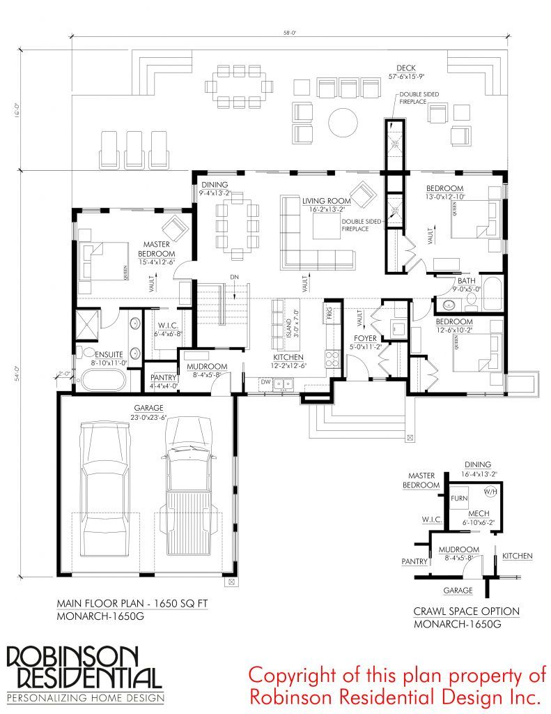 Contemporary Monarch 1650g Garage House Plans How To Plan Bungalow House Plans