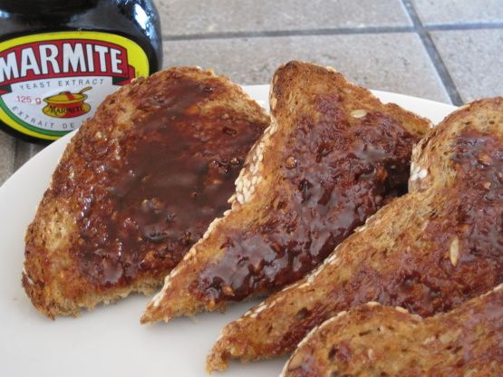 Love it or loathe it... I love it! Marmite On Toast - A Veritable British Classic! Recipe - Food.com