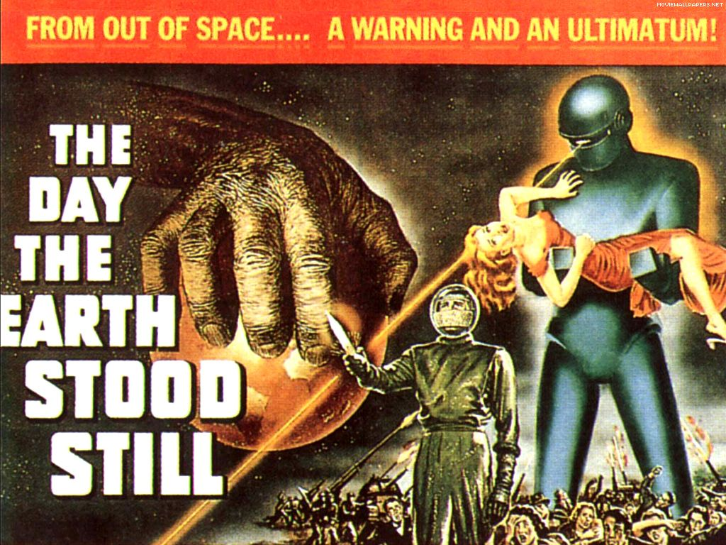 VINTAGE THE DAY THE EARTH STOOD STILL MOVIE POSTER A3 PRINT