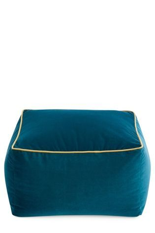 Buy Teal Velvet Square Pouffe From The Next Uk Online Shop Bean Bag Lounger Velvet Footstool Pouffe