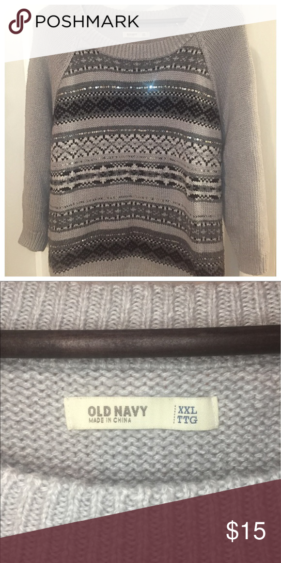 Old Navy Fair Isle Sweater Super cozy and so cute with the sequin ...
