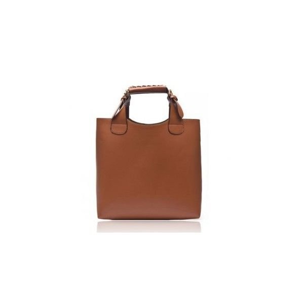 Laconic Elegant Solid Color Belts Buckles Design Women's Handbag
