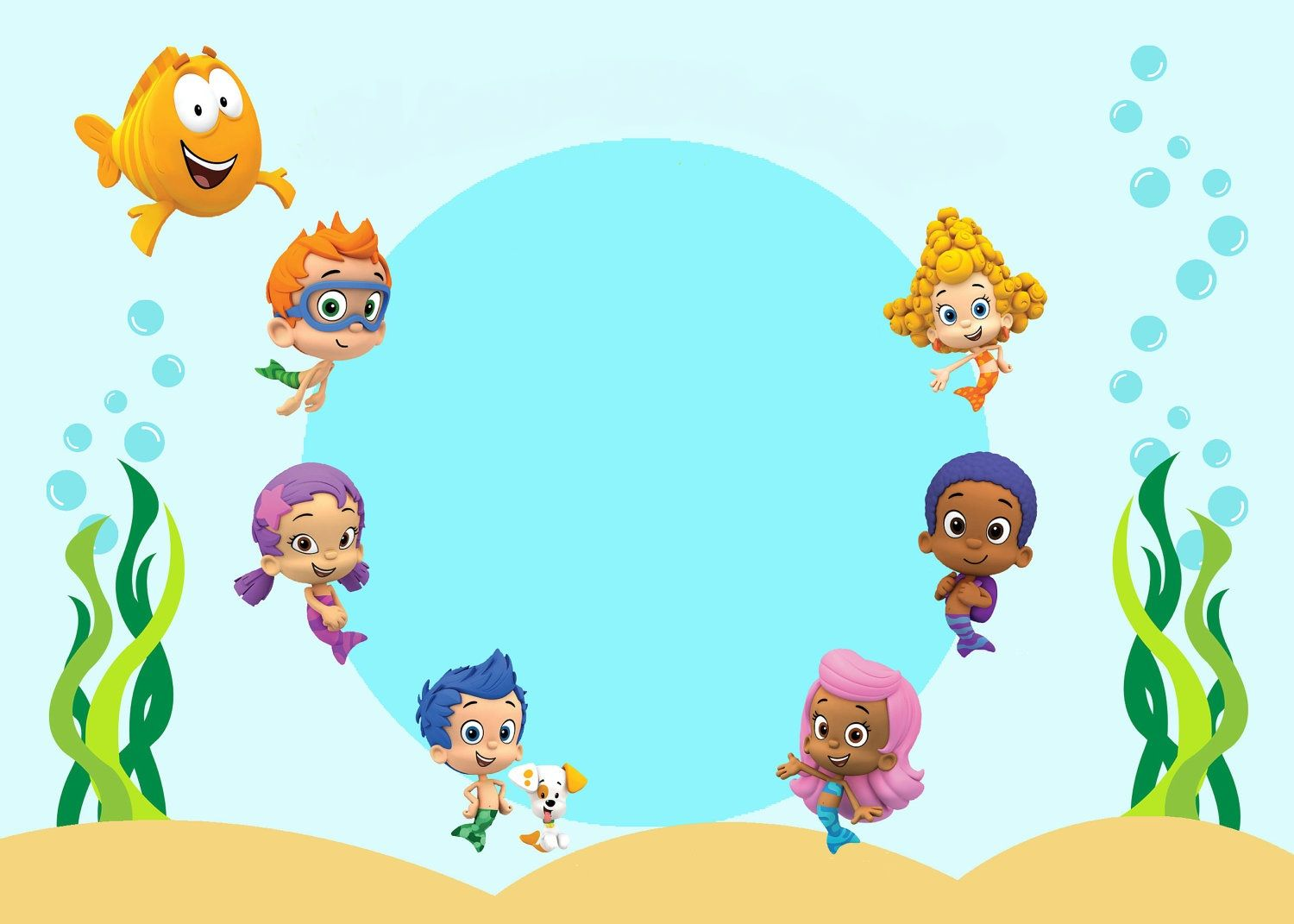 Bubble Guppies convite  Bubble guppies birthday party, Bubble