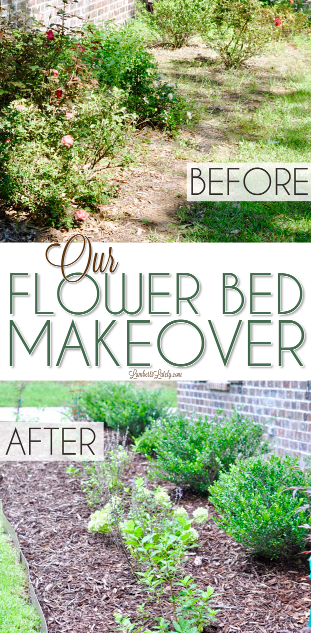Photo of Our Flower Bed Makeover | Lamberts Lately