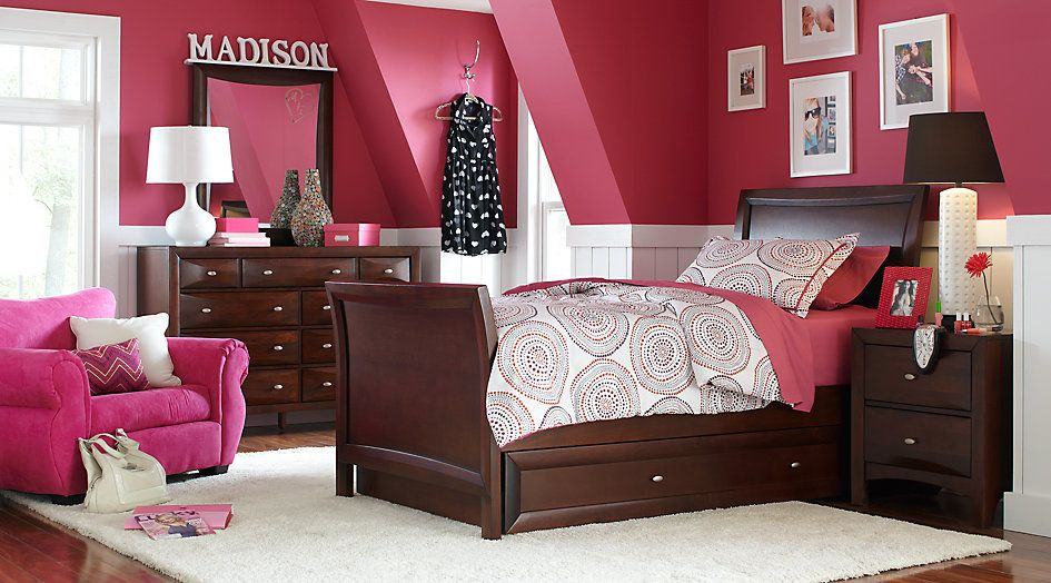 ivy league cherry 6 pc twin sleigh bedroom from furniture