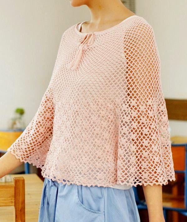 Stylish Easy Crochet: Crochet Poncho Pattern Free - Beautiful and ...