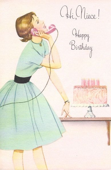 Vintage Birthday Wishes For Sister ~ Vintage unused birthday greeting card by norcross for niece pick a any pinterest