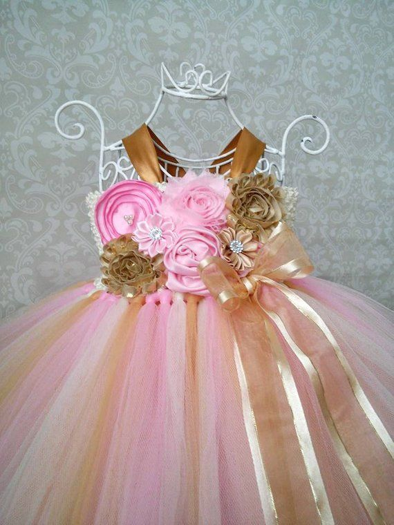 Pink and Gold Birthday Tutu Dress ab1289575a75