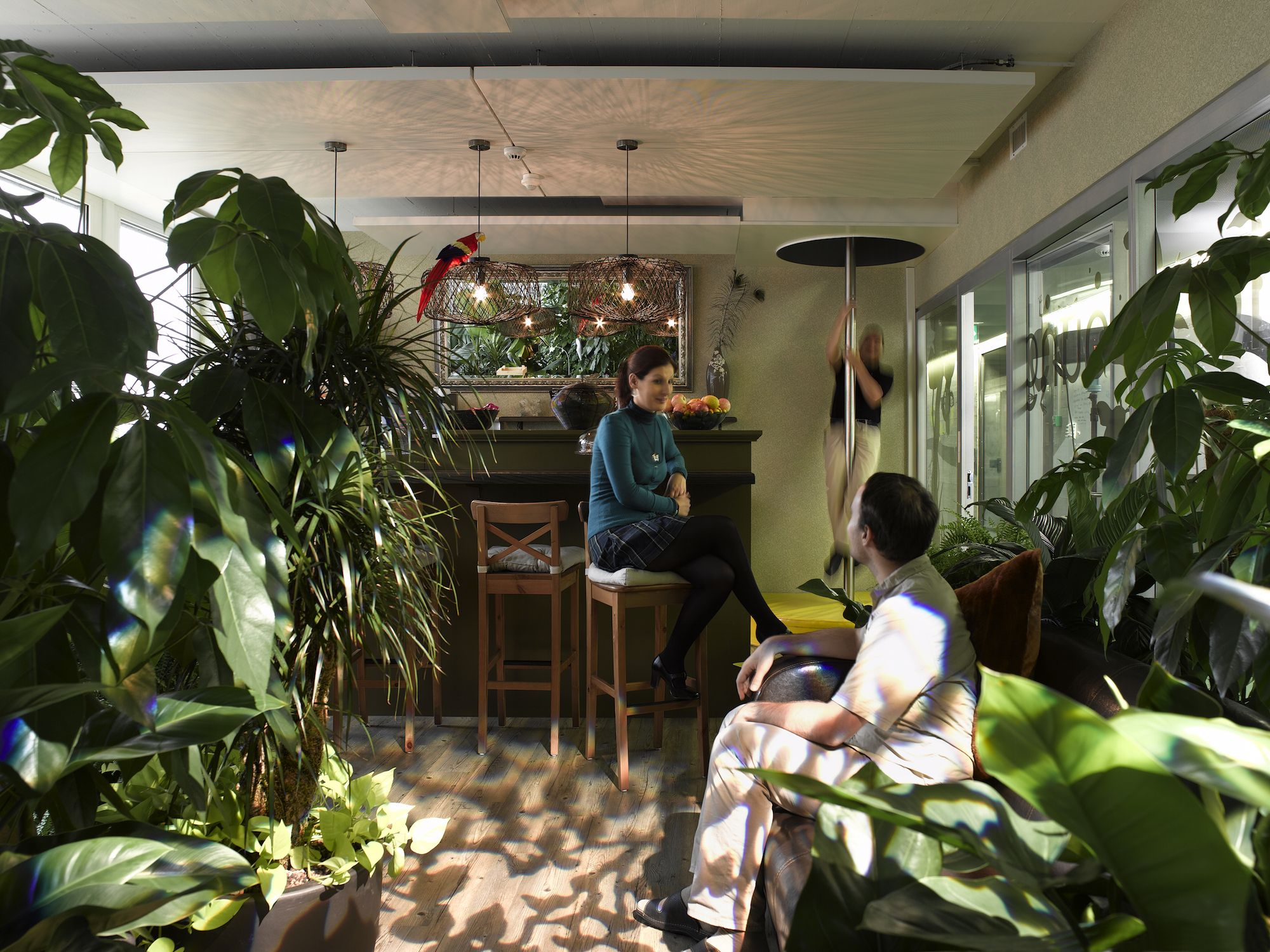 Google office zurich jungle lounge bar #googlezurich #office