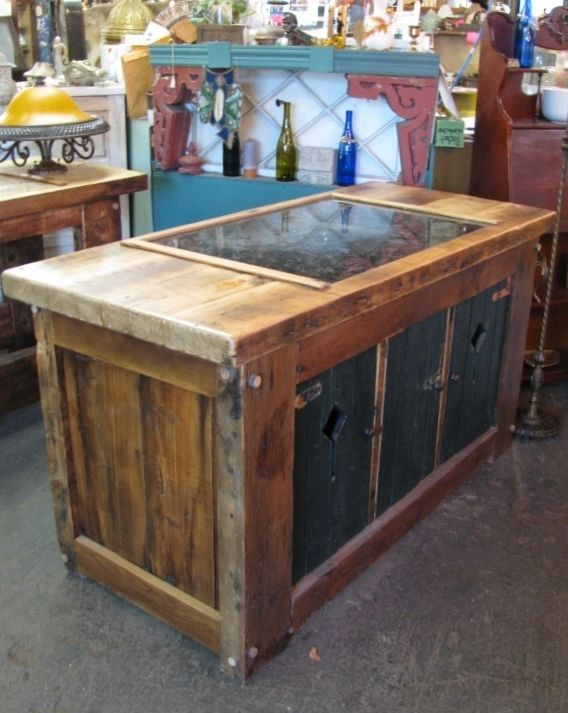 Custom made kitchen island from vintage reclaimed wood with or custom made kitchen island from vintage reclaimed wood with or without granite workwithnaturefo