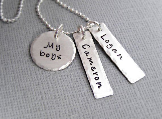7c1a6b366 Personalized mothers necklace - Custom Mother's Jewelry - Personalized  Mothers Gift - Mother Son Nec