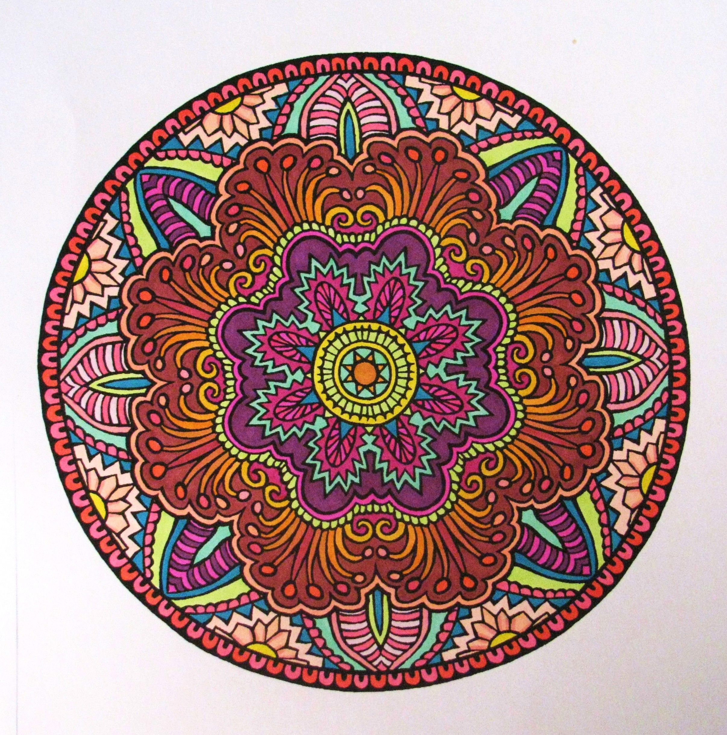 Mystic Mandala coloring book, from Dover.   Just coloring ...
