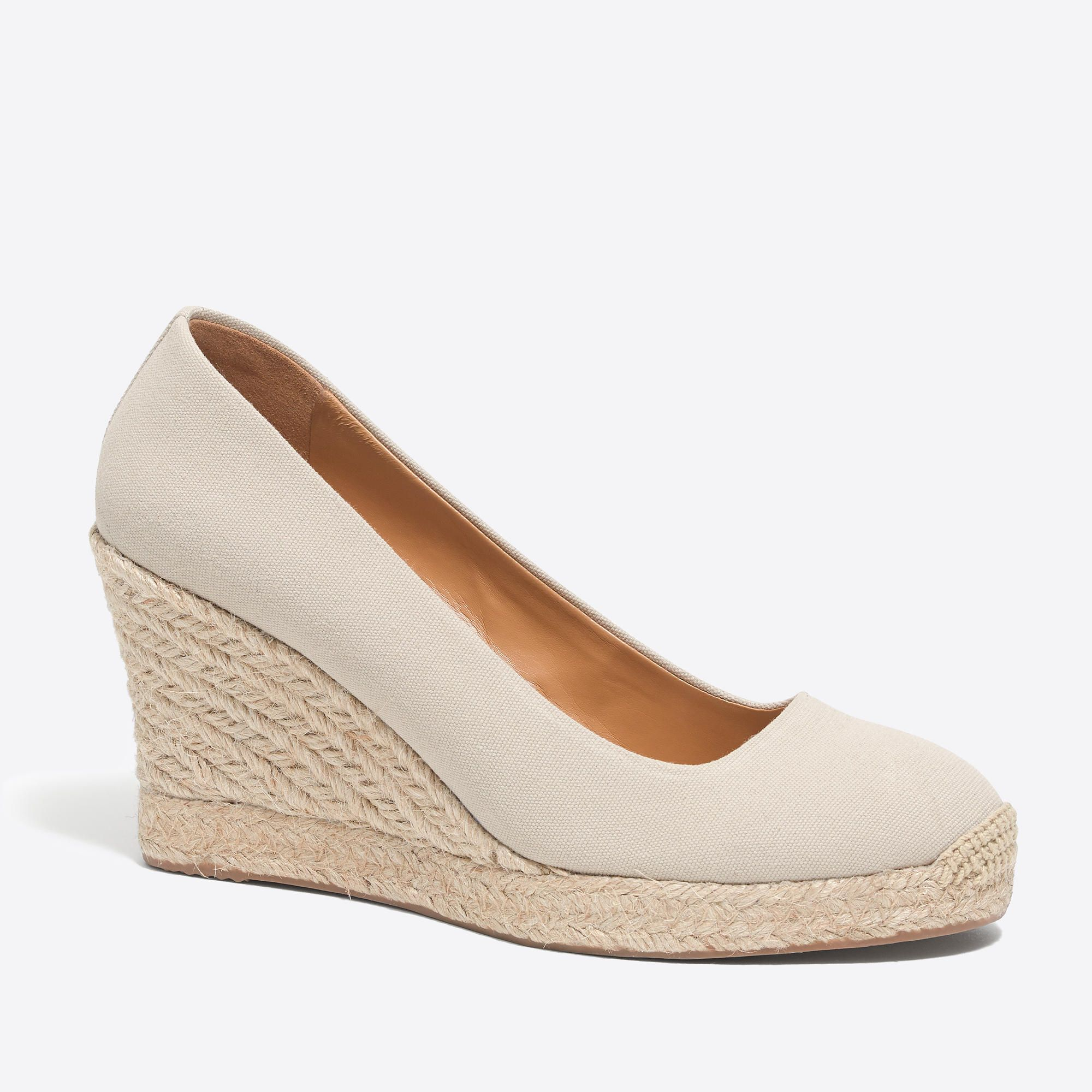 39dd79765bd Canvas espadrille wedges in 2019 | Shoes | Espadrilles, Wedge shoes ...