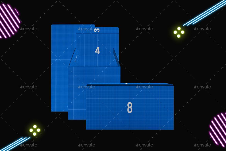 Download Neon Boxes Mockup In 2020 Neon Box Box Mockup Neon