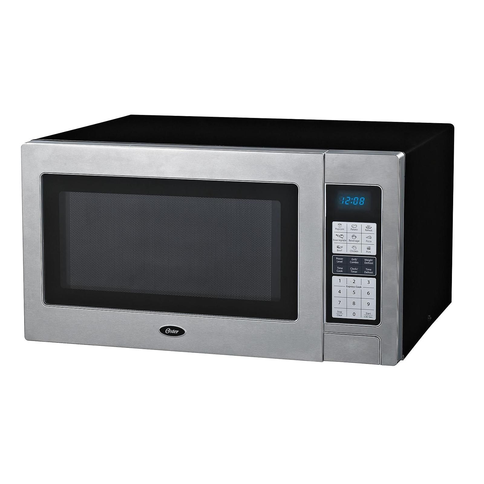 Oster Stainless Steel 1100 Watt Microwave Oven Appliances Microwaves Countertop Microwaves Haverford Home Microwave Oven Oster Microwave Kitchen Co
