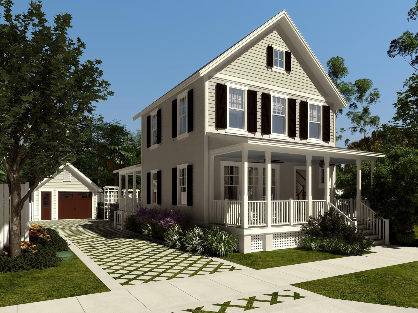 Old house designs for new construction farmhouse design for New old home plans