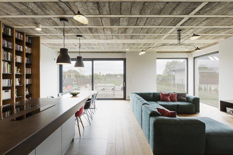 House In Sieroslaw Sieroslaw 2016 Mode Lina Architekci Home House Modern Houses Interior