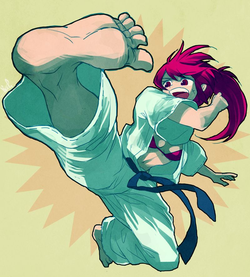 Bloomingkick By Keelsama Martial Arts Anime Martial Arts Girl Martial Arts Styles
