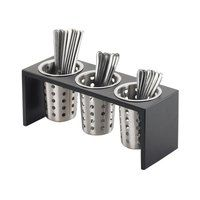 Cal Mil 1425-3-96 Midnight 3 Compartment Flatware Organizer - 16 inch x 5 1/2 inch x 6 inch