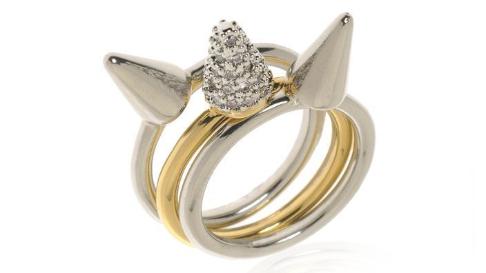 {3 cone stackable rings} perfect for the unicorn lover! :)