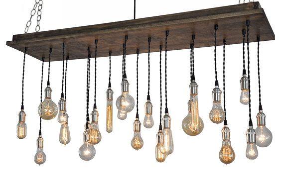 22 Bare Bulb Pendant Rustic Chandelier