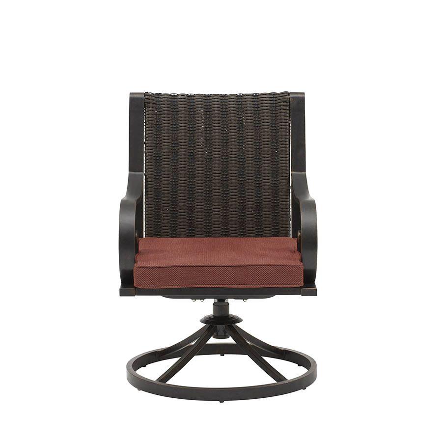 Oil Rubbed Bronze Chairs ~ Shop allen roth set of pardini oil rubbed bronze woven