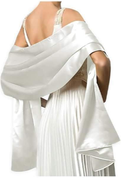 White Shawl Dress