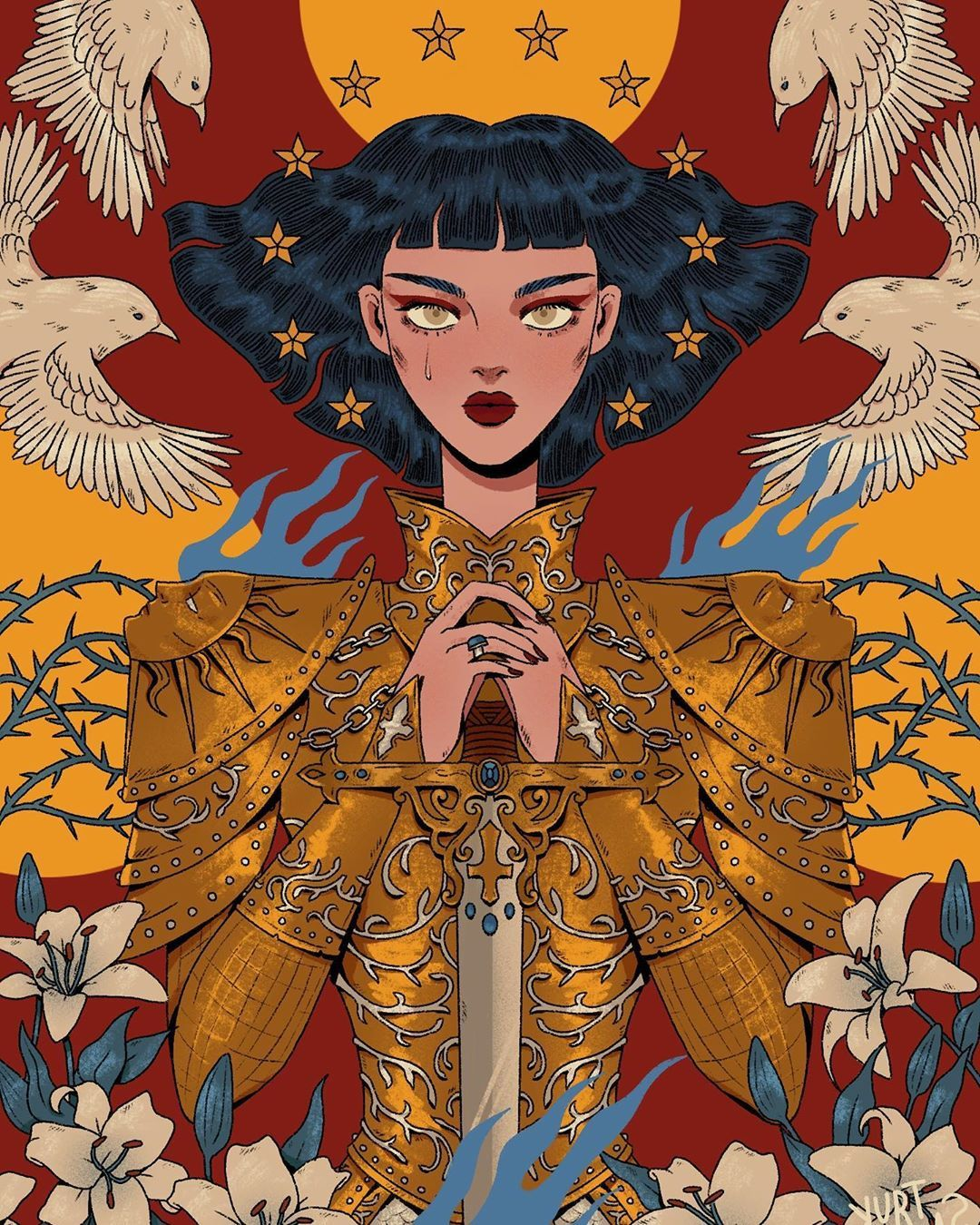 Joan Of Arc This Is My Most Intricate Illustration So