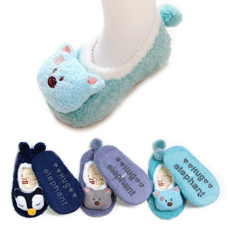 Cute Infant Indoor Antiskid Socks Kids Booties Baby Care Cartoon Soft Shoes