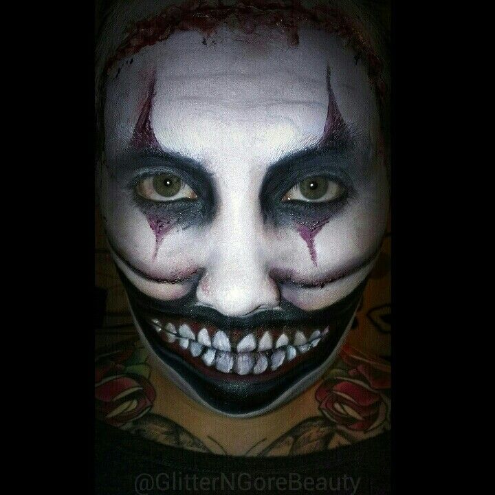 Twisty the clown makeup from american horror story! | Makeup ...