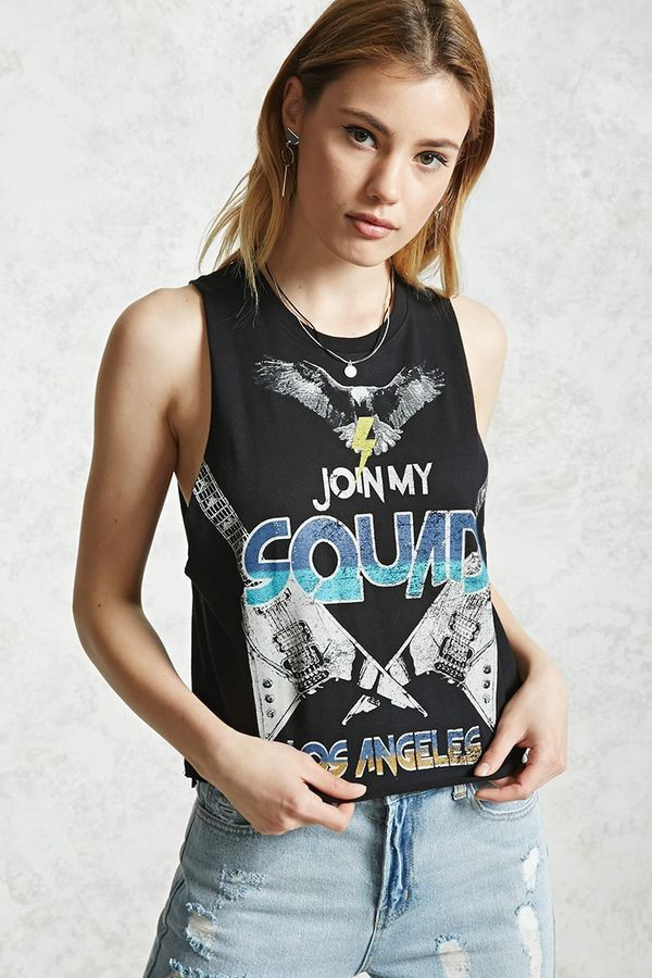 16279a57a578a Forever 21 Join My Squad Muscle Tee